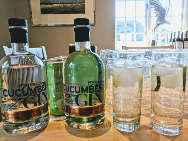 cucumber gin by The English Drinks Company
